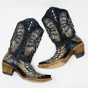 CORRAL Wing And Cross Snip Toe Western Boot 8